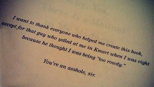 8 of The Funniest Book Dedications You Will Ever Read - #7