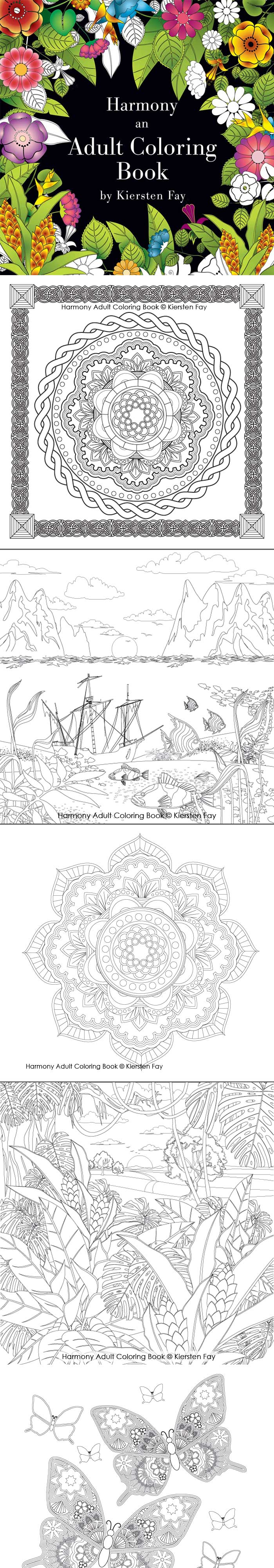 Harmony Adult Coloring Book