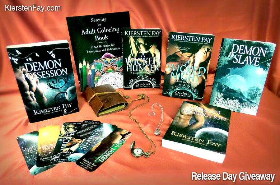 A Wicked Deisre release day giveaway prize package